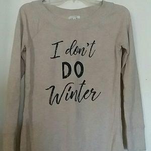 I don't do winter sweatshirt